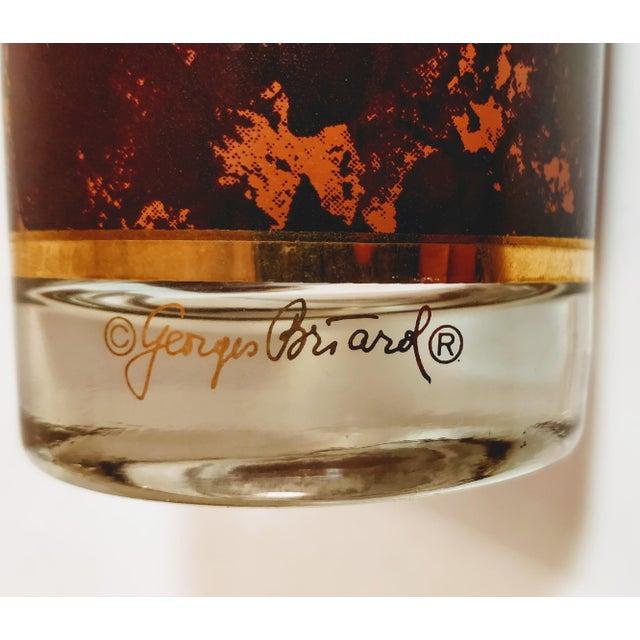 Hollywood Regency Vintage Georges Briard Tortoiseshell Lattice Design Highball Glasses - Set of 6 For Sale - Image 3 of 8