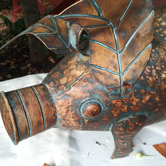 Vintage Copper Pig Watering Can - Image 3 of 7