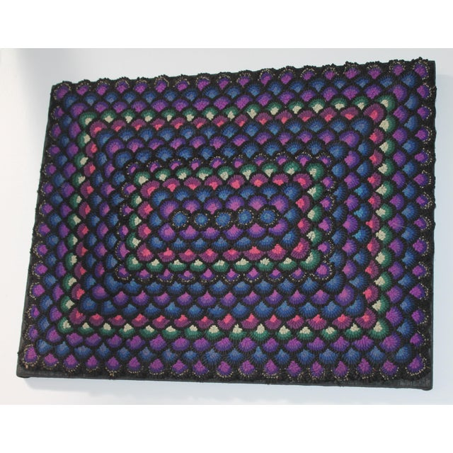 1930s 20th Century Pennsylvania Mennonite Geometric Rug For Sale - Image 5 of 5