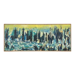 """""""Sky Line"""" Abstract Oil Painting on Canvas For Sale"""