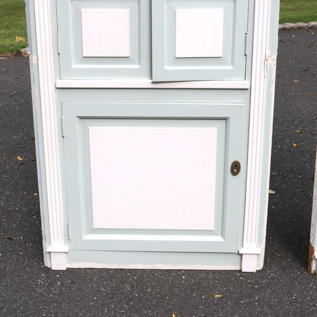 Custom Arch Panel Corner Cabinets - A Pair - Image 5 of 11