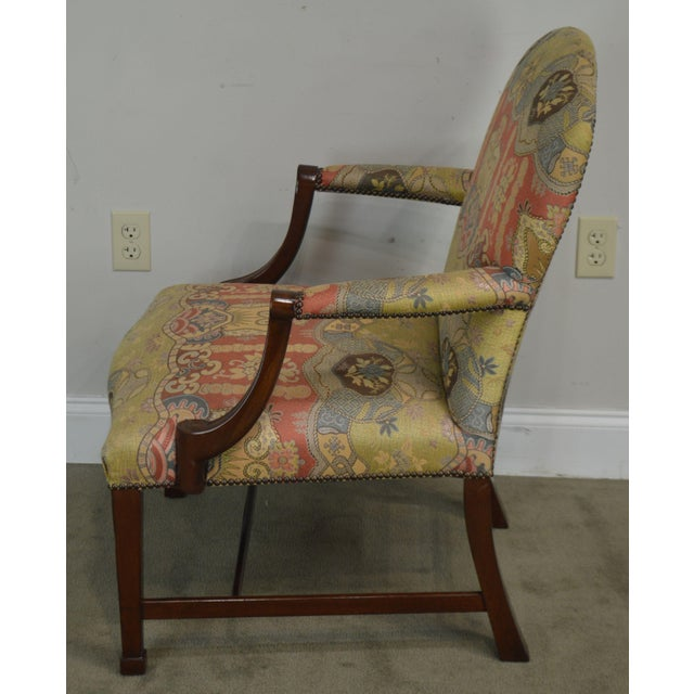 Wood Smith & Watson Hepplewhite Mahogany Pair Open Armchairs For Sale - Image 7 of 13