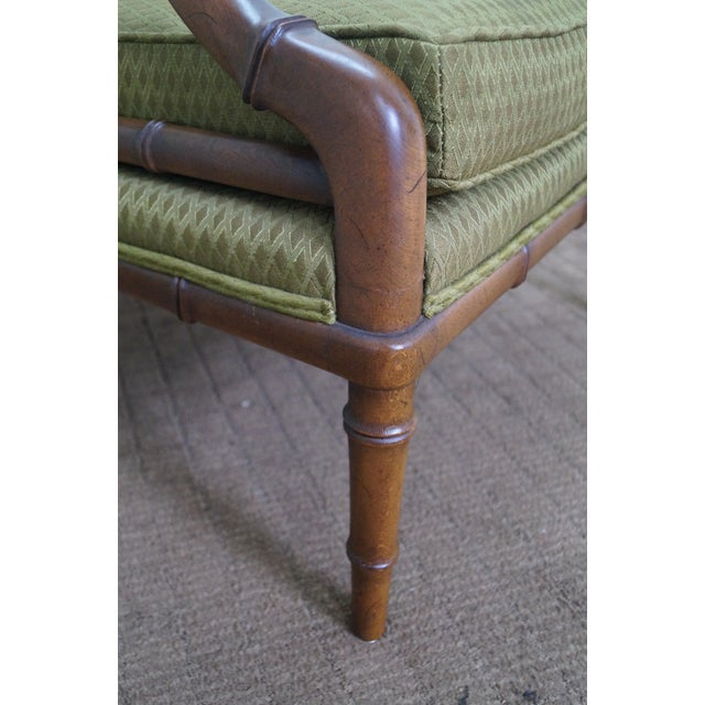 Century Furniture Co. Faux Bamboo Lounge Chair - Image 5 of 10