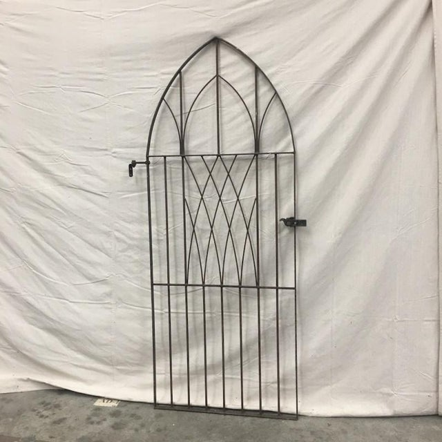 English Antique Gothic Iron Gate