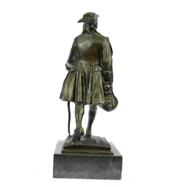 Benjamin Franklin Bronze Sculpture - Image 4 of 9