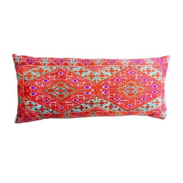 Swati Embroidered Lumbar Pillow For Sale - Image 4 of 5