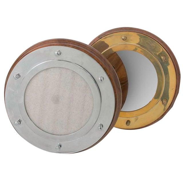 Nautical Portholes Mirror & Frame Set - a Pair For Sale