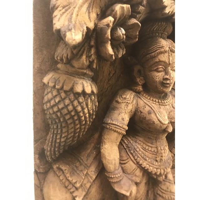 Carved Wooden Icon of Vishnu Goddess For Sale - Image 9 of 12