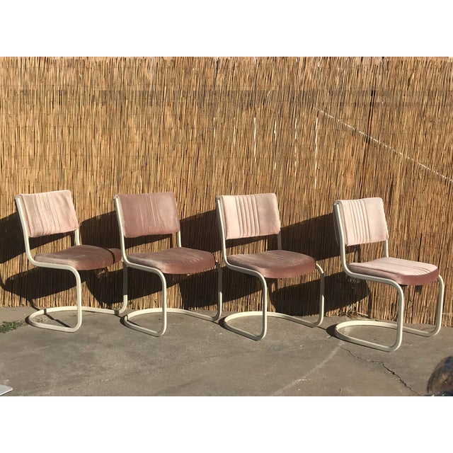 Mid-Century Modern 1960s Vintage Marcel Breuer by Knoll Pink Dining Chairs- 4 Pieces For Sale - Image 3 of 8