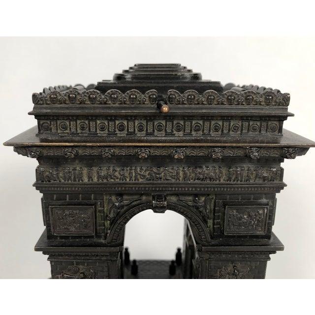 Gold 19th Century Grand Tour Bronze Architectural Model of the Arc De Triomphe, Paris For Sale - Image 8 of 12