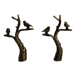 Birds on Branch Finials - Pair For Sale