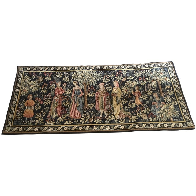 Vintage Point De Loiselles French Wall Tapestry - Image 1 of 7