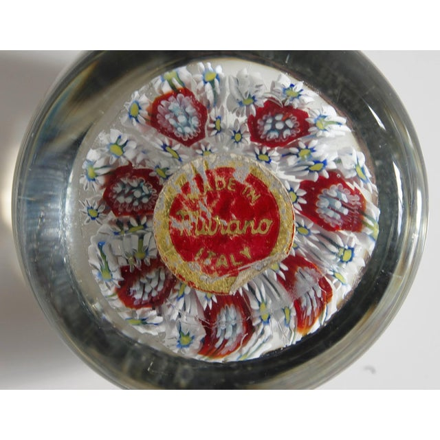Collection of Eight Italian Murano Glass Millefiori Paperweights For Sale In Palm Springs - Image 6 of 11
