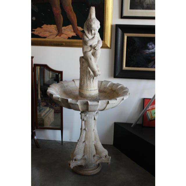 Late 19th Century Carved Marble Birdbath/ Fountain - Image 4 of 4