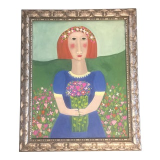 Rose Walton Flower Picker Painting