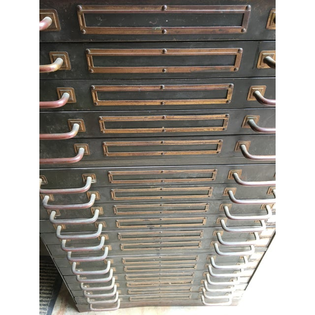 Industrial Steel Flat File Cabinet For Sale - Image 9 of 11