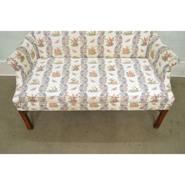 Custom Quality Chippendale Style Loveseat - Image 10 of 10
