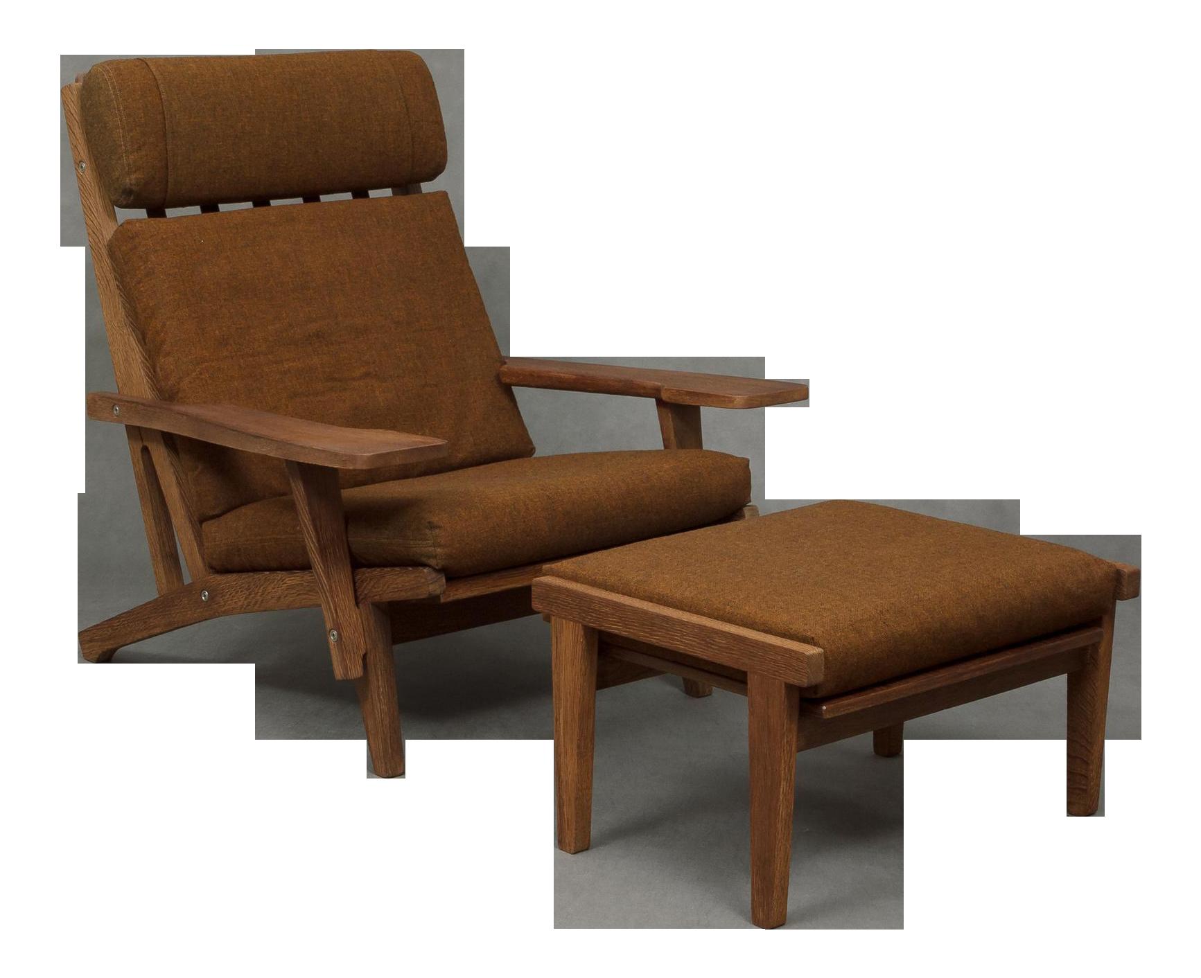 Hans Wegner Ge 375 Lounge Chair U0026 Foot Stool