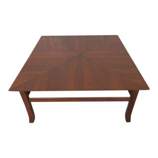 Kipp Stewart Walnut Coffee Table With Rosewood Inlay For Sale