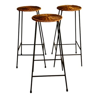 Arthur Umanoff Counter Stools - Set of 3 For Sale