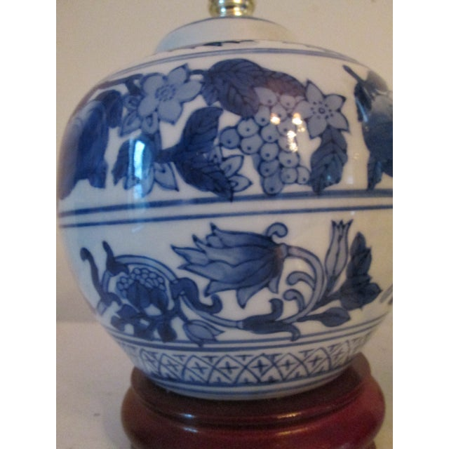 Mini Blue and White Table Lamps - Pair - Image 3 of 4