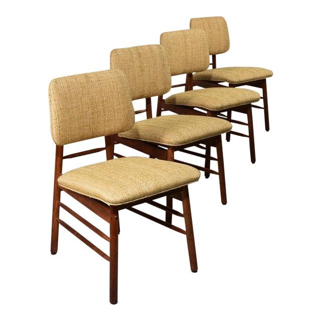 1952 Vintage Greta Grossman Model 6260 Chairs - Set of 4 For Sale
