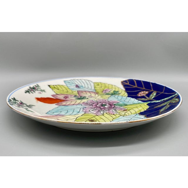 Late 20th Century 20th Century Chinese Tobacco Leaf Pattern Plates - a Pair For Sale - Image 5 of 10