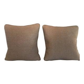 Pair of Vegan Cashmere Decorative Pillows For Sale