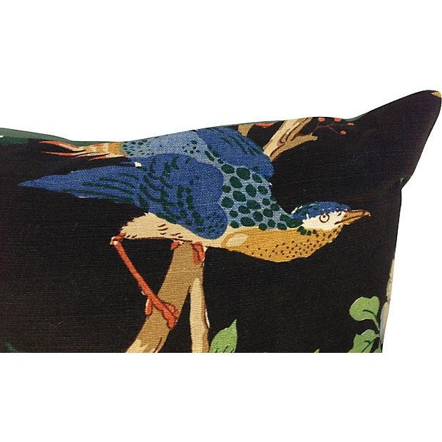 Chinoiserie Floral & Bird Pillows - Pair - Image 5 of 6