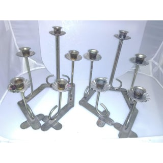 1970s Articulating Brass Candle Holders - a Pair Preview