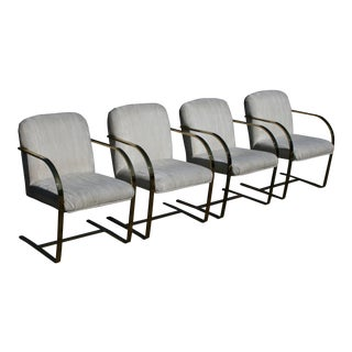 Vintage Mies Van Der Rohe for Knoll Brno Arm Chairs - Set of 4