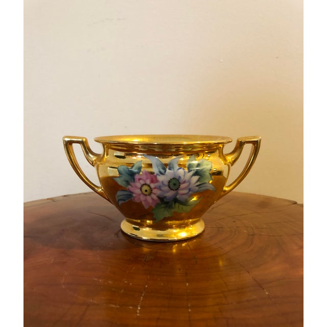 Final Price! Antique Gold Floral Noritake Sugar Bowl For Sale In South Bend - Image 6 of 6