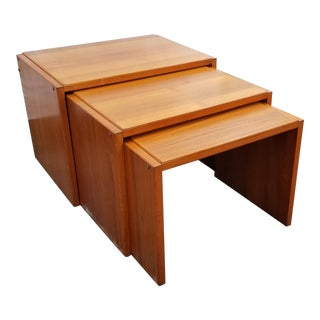 Vintage Brdr. Furbo Danish Teak Wood Nesting Tables - Set of 3 For Sale