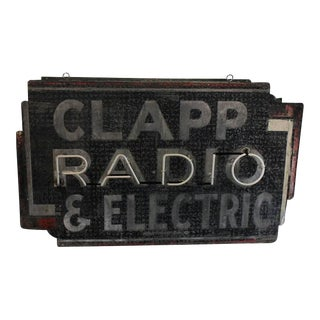 1930s Radio Neon Sign For Sale