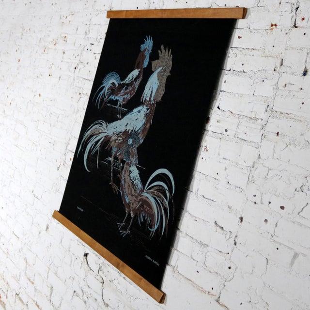 Mid 20th Century Robert Bushong Silkscreen Wall Scroll Chanticleer for Tom Tru Raymor Mid Century Modern For Sale - Image 5 of 13