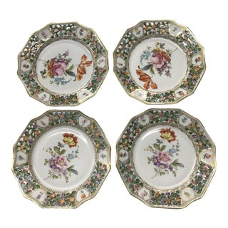 Dresden Style Reticulated Plates - Set of 4