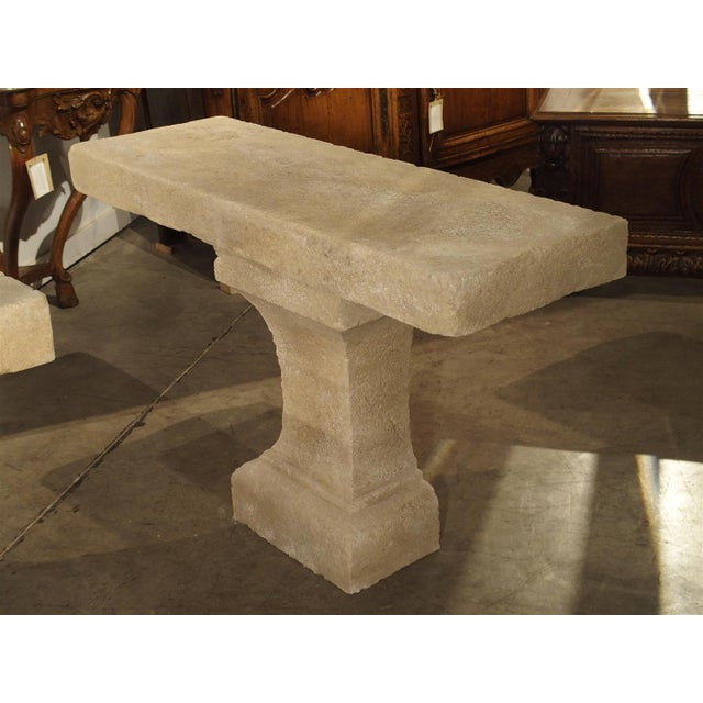 Pair of Carved Limestone Console Tables from the South of France - Image 3 of 11