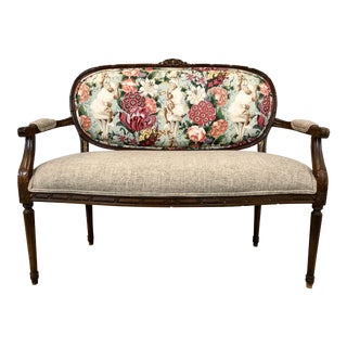 French Style Chinoiserie Settee For Sale