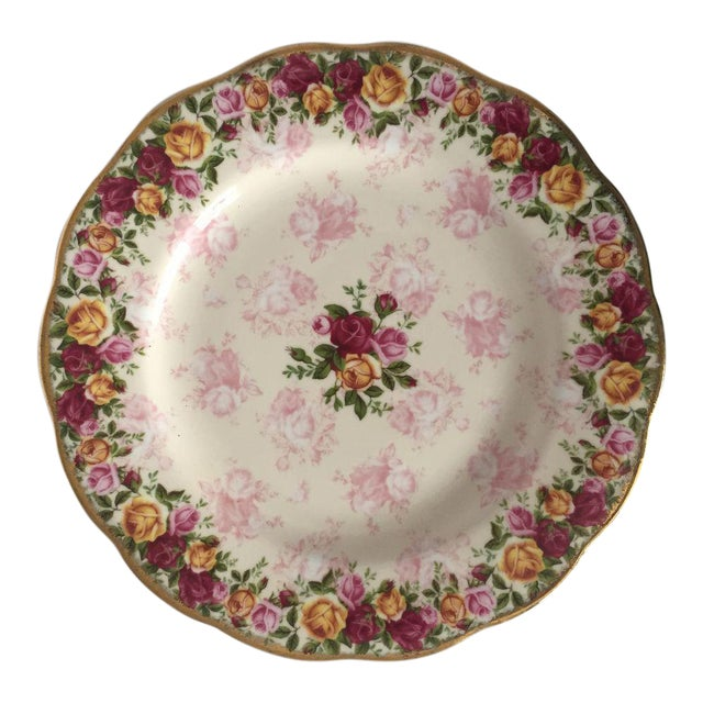 Royal Albert Rose Pattern English Bone China Plate - Image 1 of 5