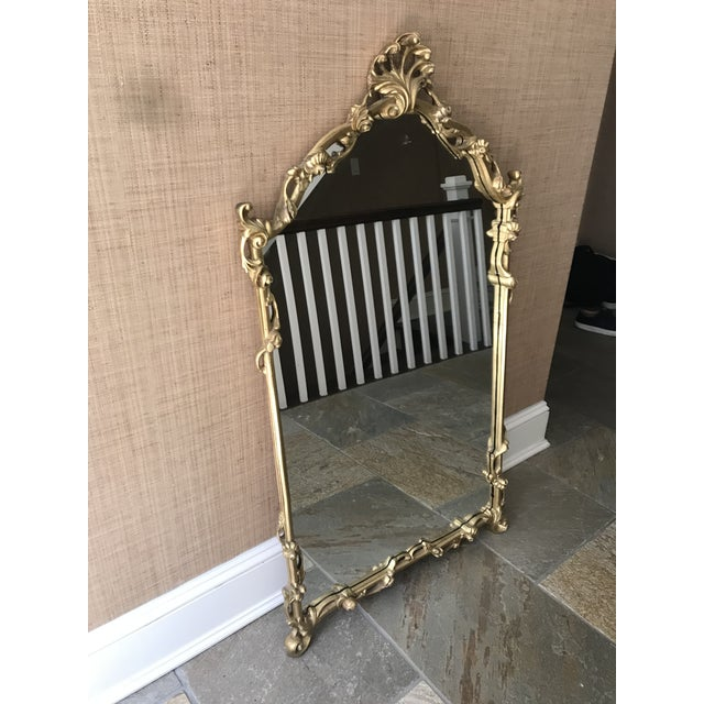 Chinoiserie Gold Carved Wall Mirror For Sale - Image 11 of 13