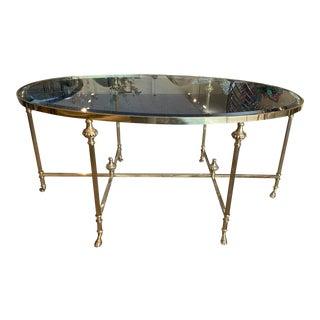 Hollywood Regency LaBarge Brass Cocktail Table For Sale
