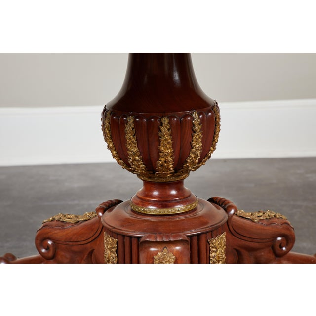 Early 19th Century French Empire Mahogany Pedestal Table with Ormolu For Sale In Los Angeles - Image 6 of 8