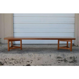 Mid-Century Long Low Solid Teak Plank Bench or Table Preview