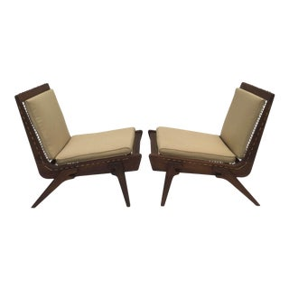 Pair of limited edition George Allen lounge chairs For Sale
