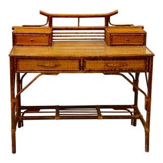 Antique Tortoise Bamboo Writing Desk