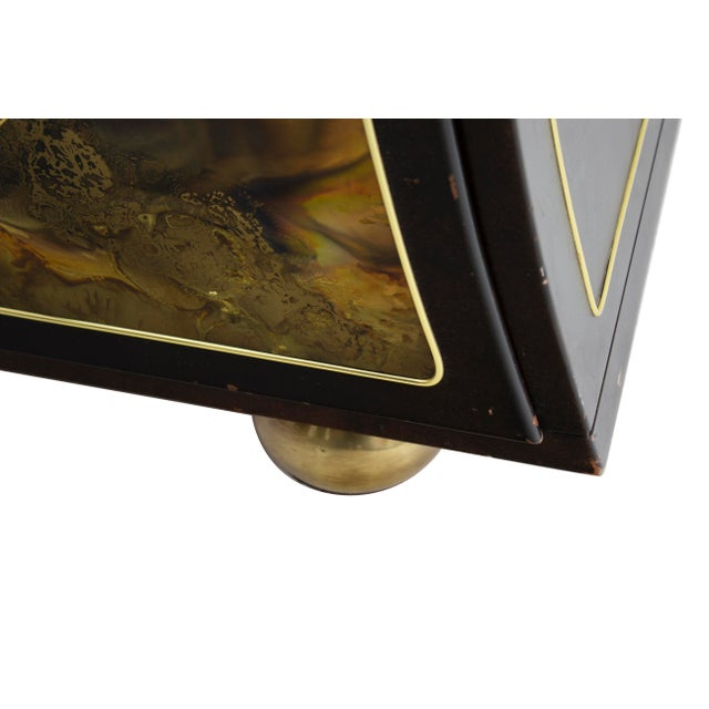 Brass Chest Dresser in Acid-Etched Brass by Bernhard Rohne for Mastercraft For Sale - Image 7 of 13
