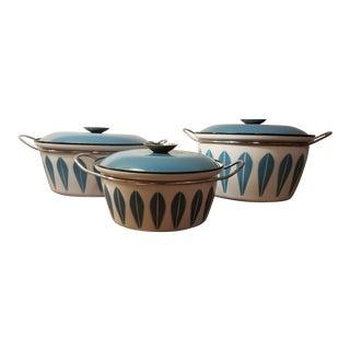 Cathrineholm Lotus Pattern Pots - Set of 3 For Sale