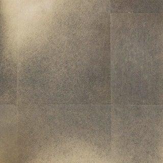 Sample, Maya Romanoff Precious Metals - Platnium - Hand-Inlaid Metal Leaf Wallcovering For Sale