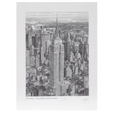 Image of Walter Tjart NY The Empire State Building Etching For Sale