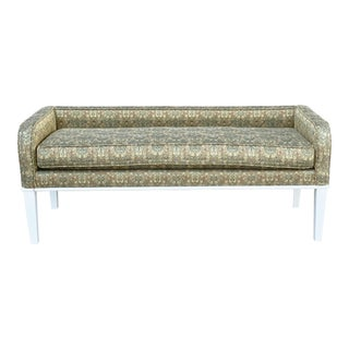 1960's Vintage Upholstered Bench For Sale